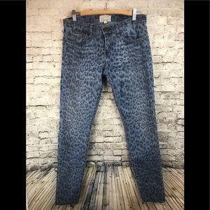 Current Elliot size 28 cheetah print jeans